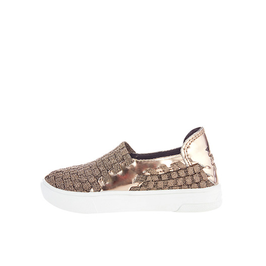 Metallic Woven Slip-On Kids 813SLK